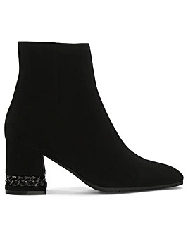 Daniel Chainer Block Heel Ankle Boots