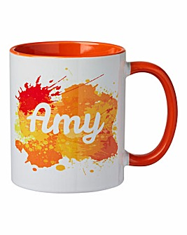Personalised Colourful Splash Mug