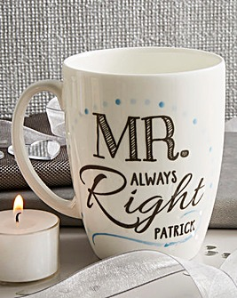 Personalised Mr Conical Mug