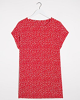 Red Floral Side Pocket Tunic