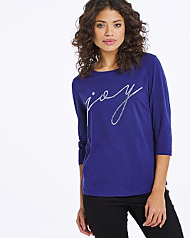 Joy Novelty 3/4 Sleeve Top