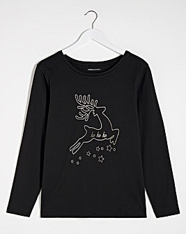 Deer Novelty Long Sleeve Top