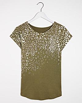 Khaki Foil T-Shirt