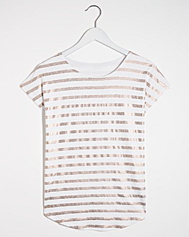 Foil Stripe T-Shirt