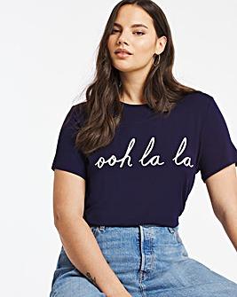 Ooh La LA Slogan T-Shirt