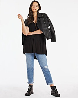 Button Down Smock Tunic