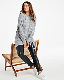 Knit Look Ruched Hem Tunic