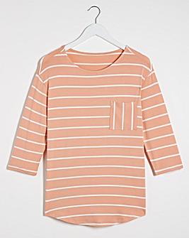 L/S Stripe Pocket Top