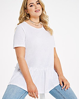White Tiered Jersey Swing Tunic
