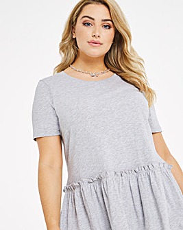 Grey Marl Tiered Tunic