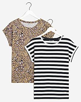 Pack of 2 Boyfriend T-shirts