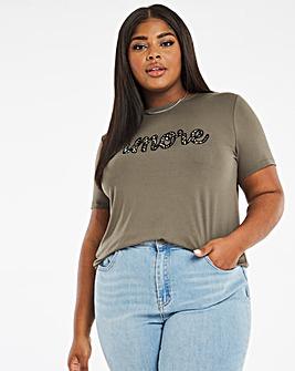 Amore Slogan T-Shirt