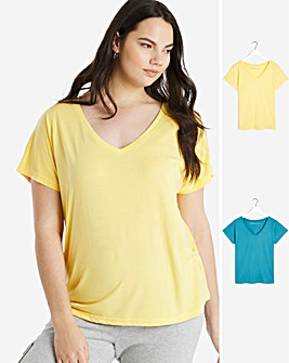 2 Pack Slouch T-Shirts