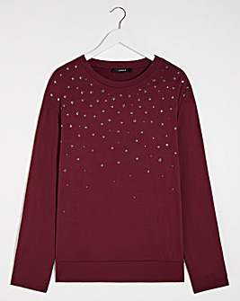 Graduated Sparkle Front Top