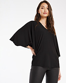 Angel Sleeve Crepe Top