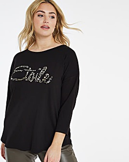 Etoile Slogan T-Shirt