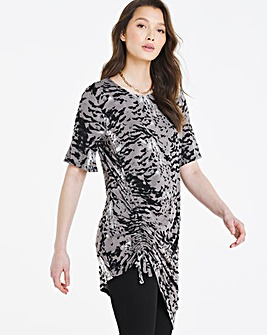 Ruched Channel Tunic