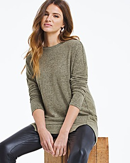 Knit Look Split Hem Tunic