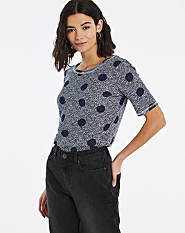Navy Spot Value Cotton T-Shirt