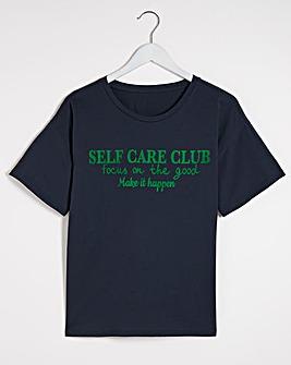 Varsity Navy Self Care Club T-Shirt