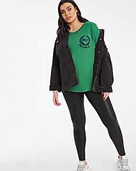 Varsity Green Self Care Club T-Shirt