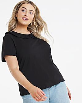 Poplin Collar T-shirt