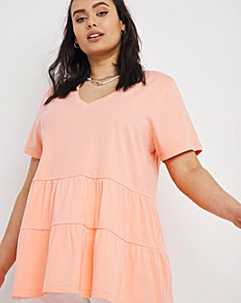 Short Sleeve Tiered Top