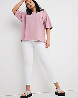 Pink Oversized Washed Tee