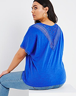 Crochet Insert T Shirt