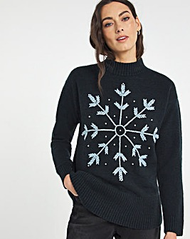 Julipa Embroidered Snowflake Jumper