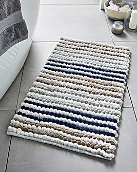 Merlin Collection Navy Stripe Bathmat