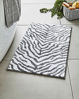 Zebra Jacquard Bathmat