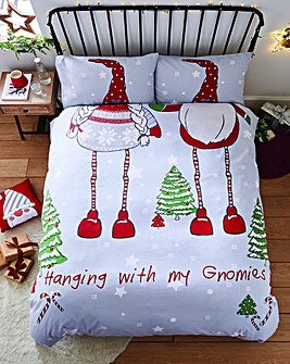 Catherine Lansfield Hanging with my Gnomies Duvet Set