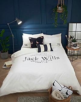 Jack Wills Distressed Logo 100% Cotton Duvet Set