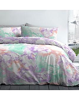 Tie Dye Multi-Coloured Duvet Cover Set