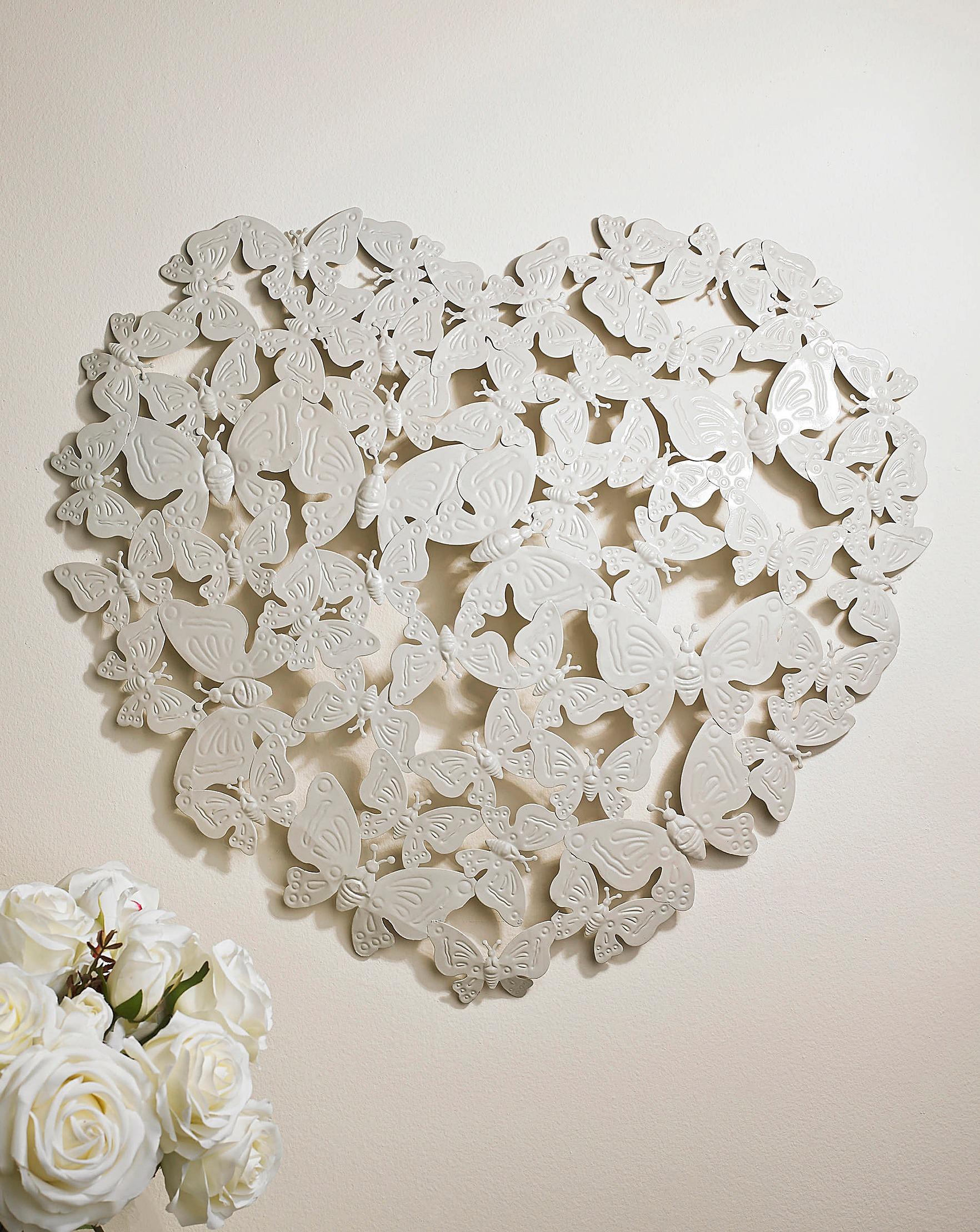 3d Butterfly Heart Wall Art J D Williams