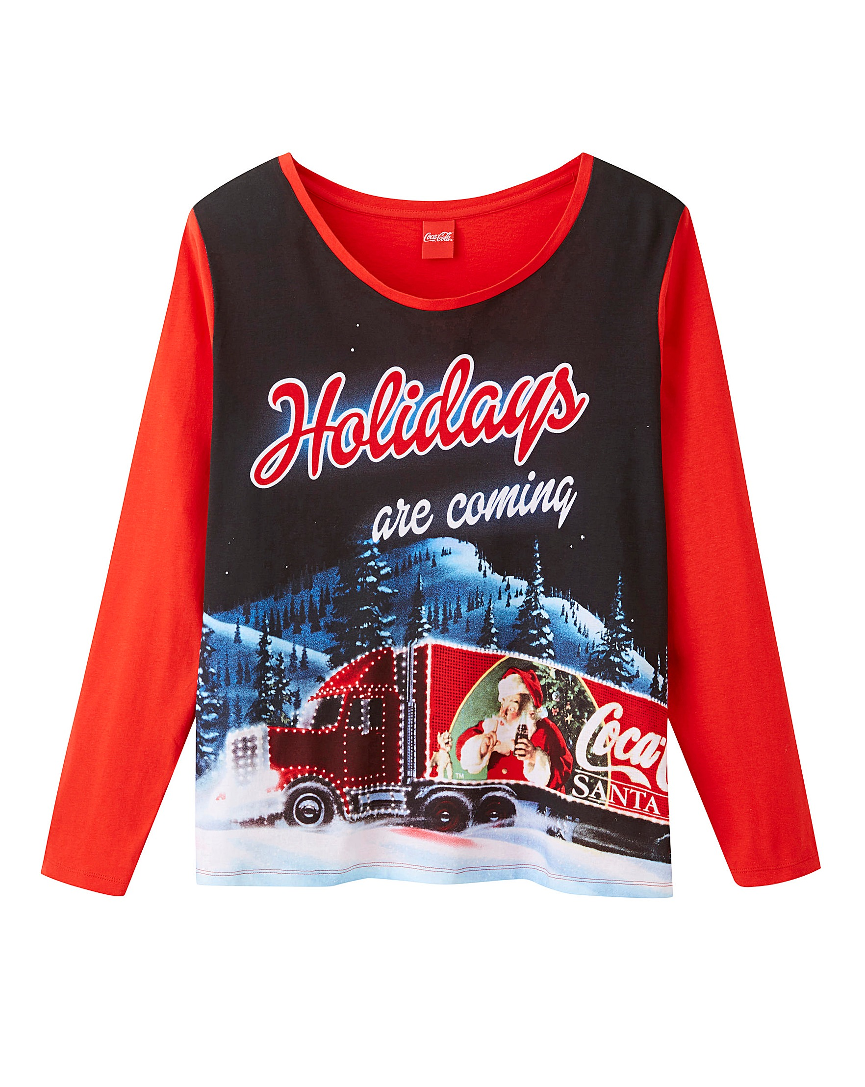 5568ab186efc57 Coca Cola Christmas Pyjama Set | J D Williams