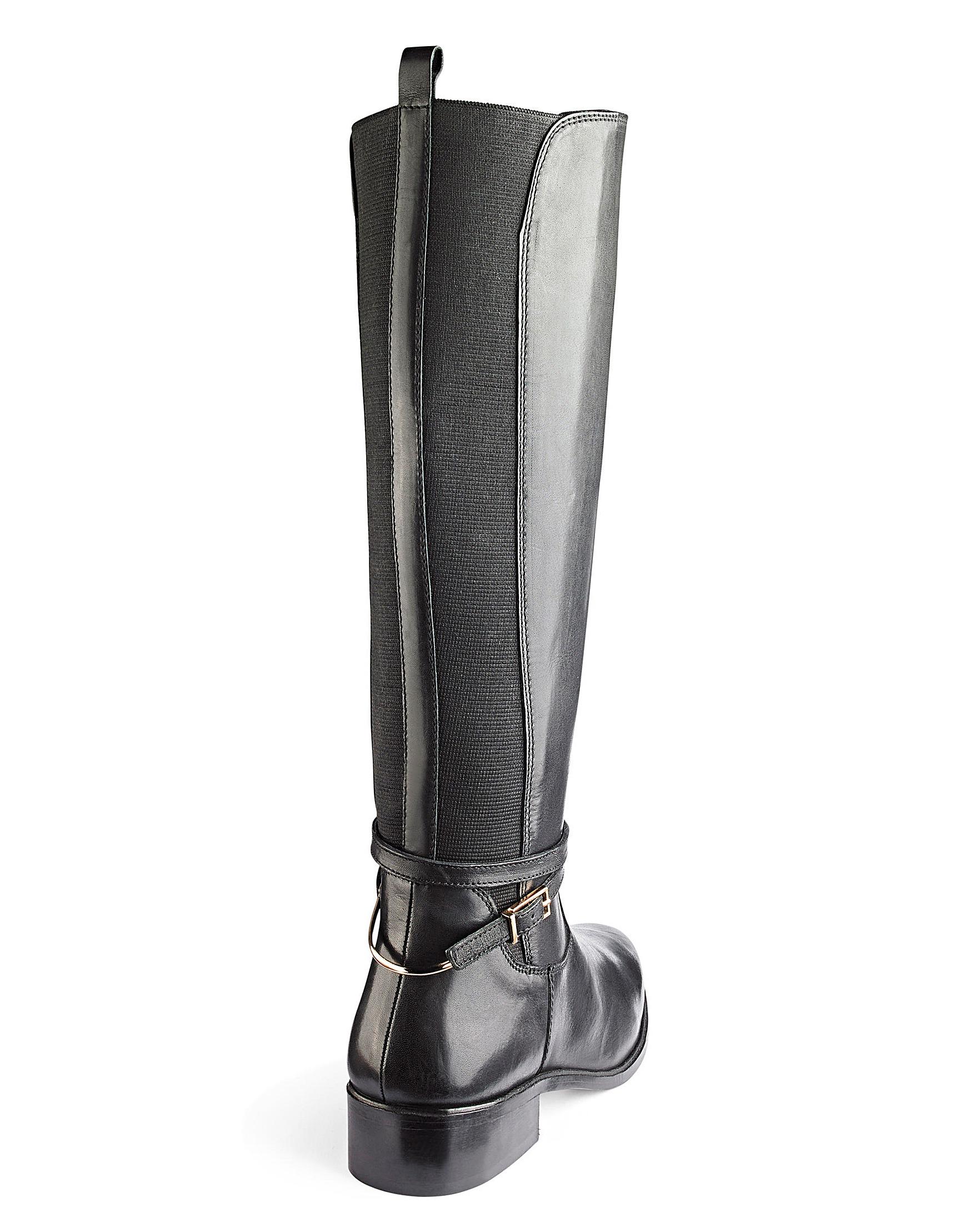 3e5c8d779ca Dune Wide Fit Taro Knee High Boots