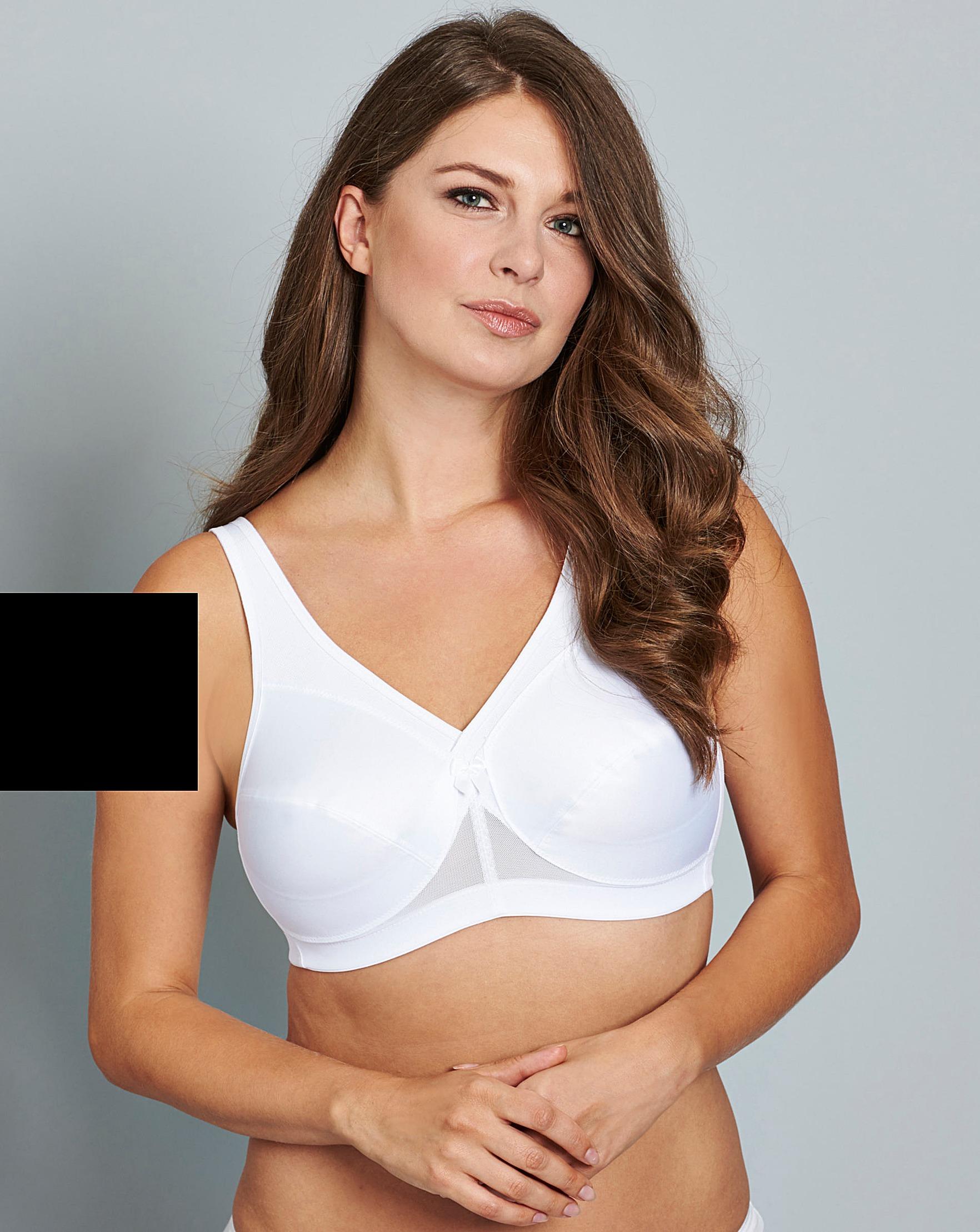 e0e72a5306 Glamorise Active Support White Bra