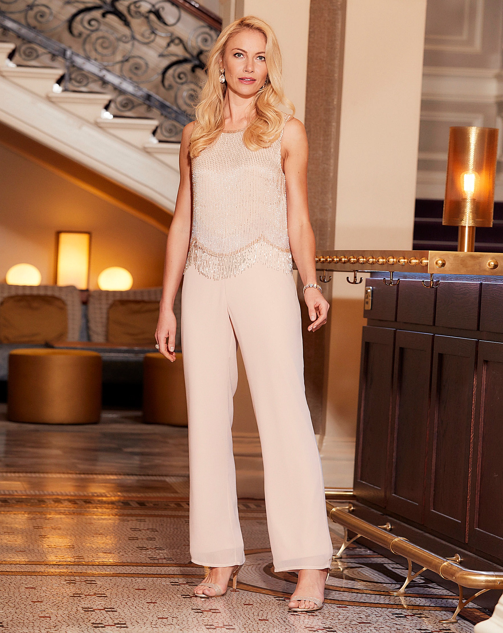 c2228232822 Joanna Hope Petite Beaded Jumpsuit