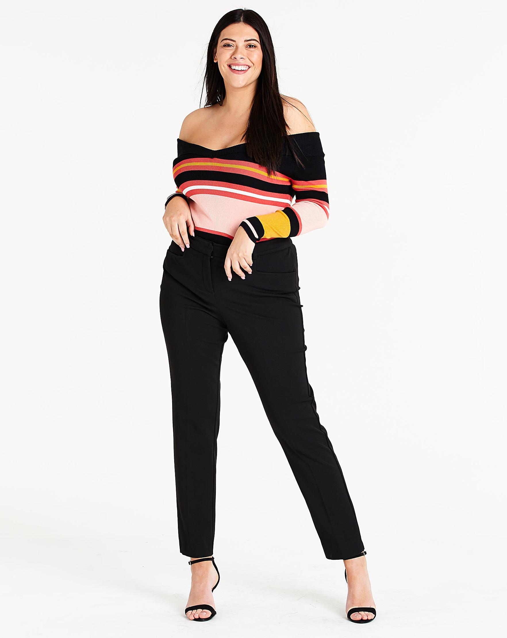 c8e249bac229 Black Everyday Kate Slim Leg Trousers Regular