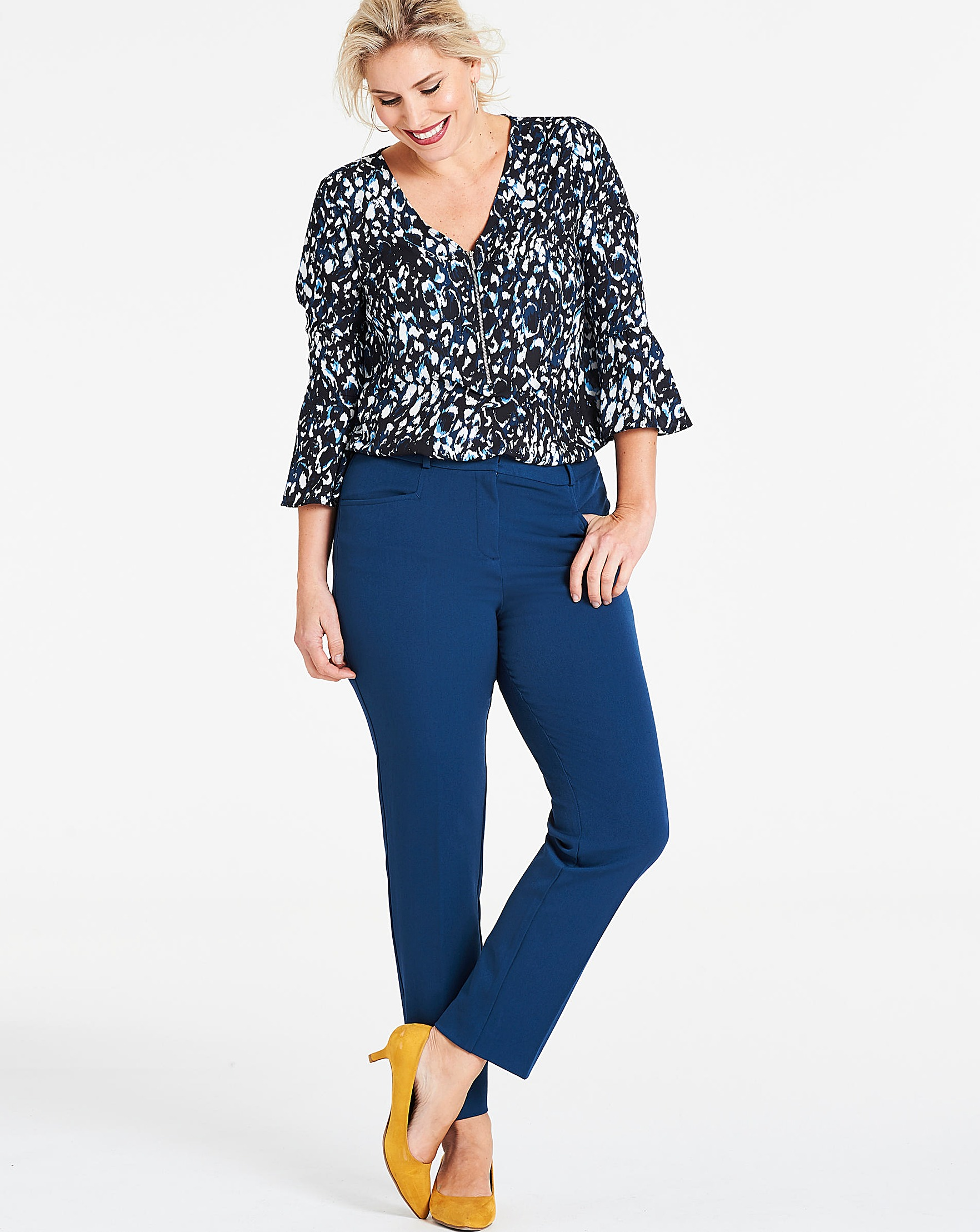 329c9724766a Teal Everyday Kate Slim Leg Trousers | J D Williams