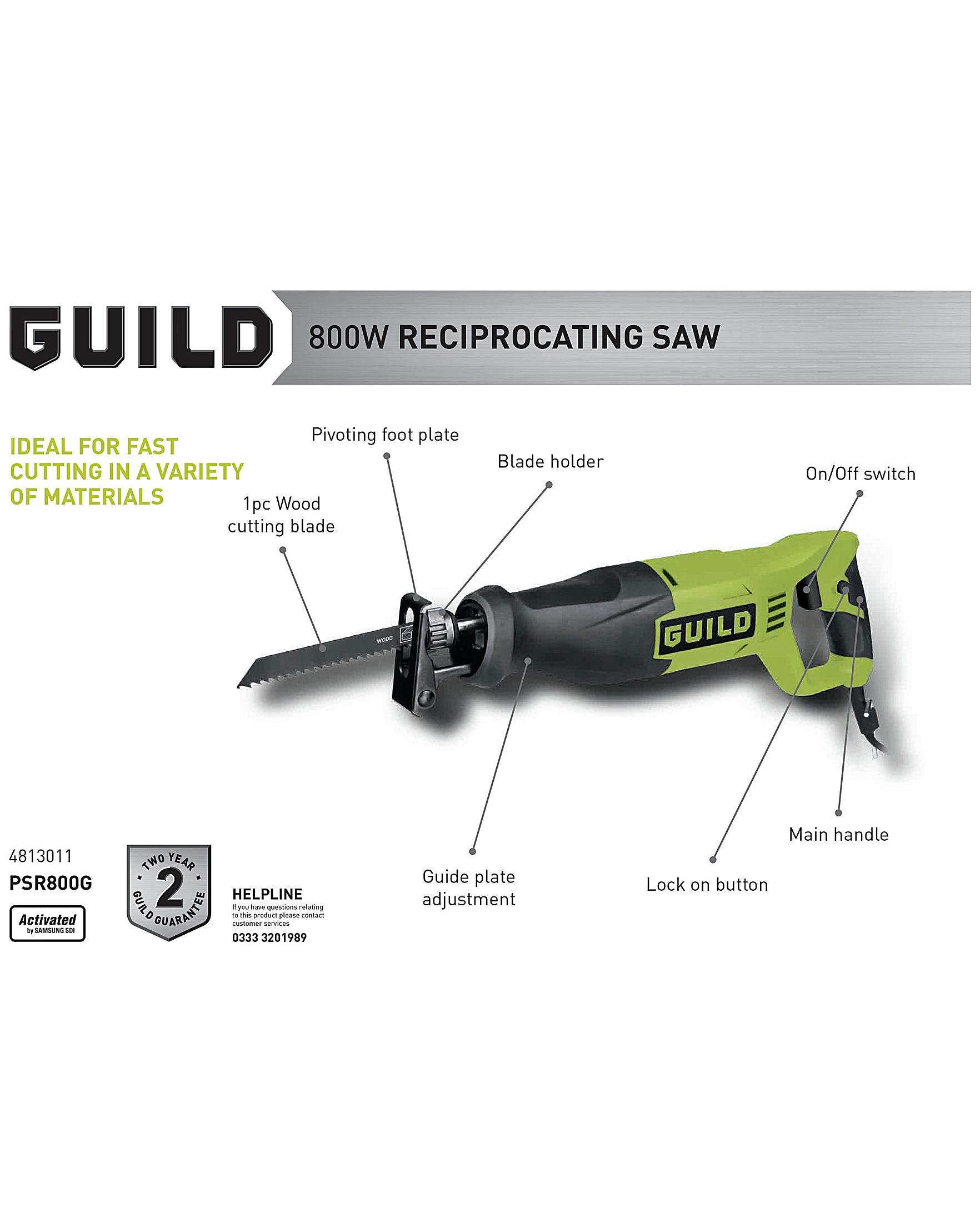 Guild reciprocating saw 800w premier man keyboard keysfo Choice Image