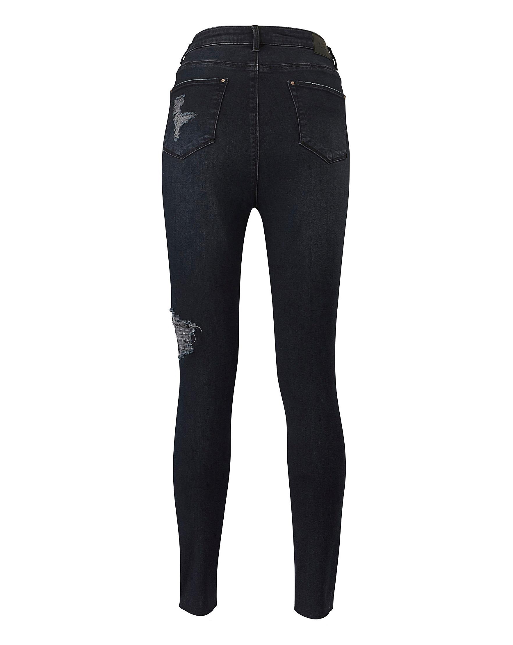 58c89f0d708 Indigo Chloe Ripped Skinny Jeans | Fashion World