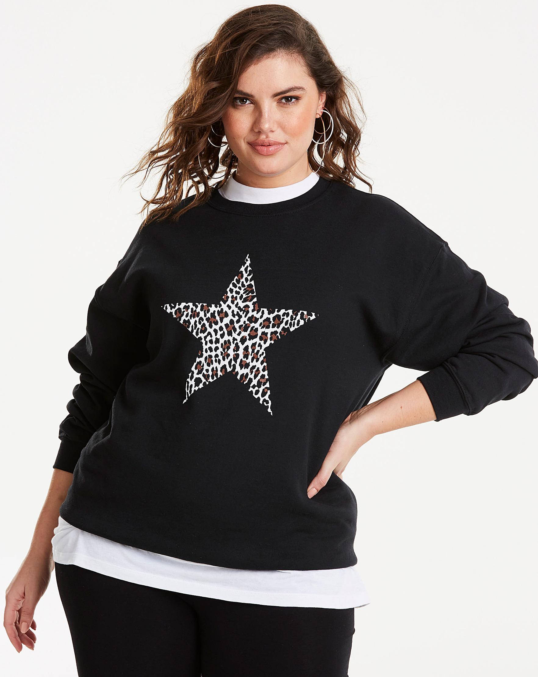 c2793477d26 Leopard Print Star Sweatshirt