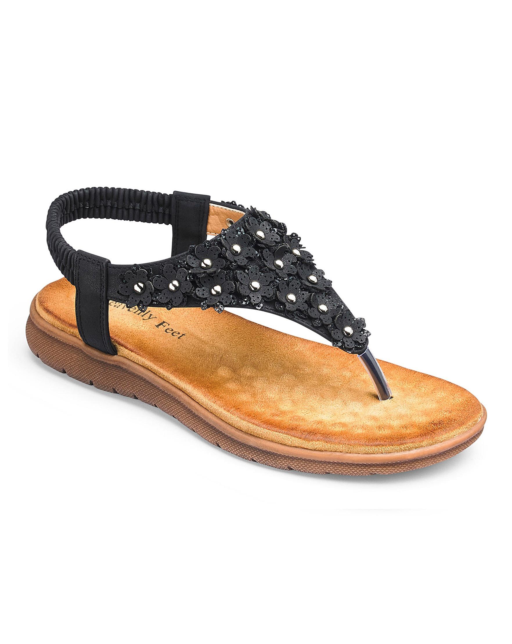 e58e0c76a Heavenly Feet Toe Post Sandals EEE Fit
