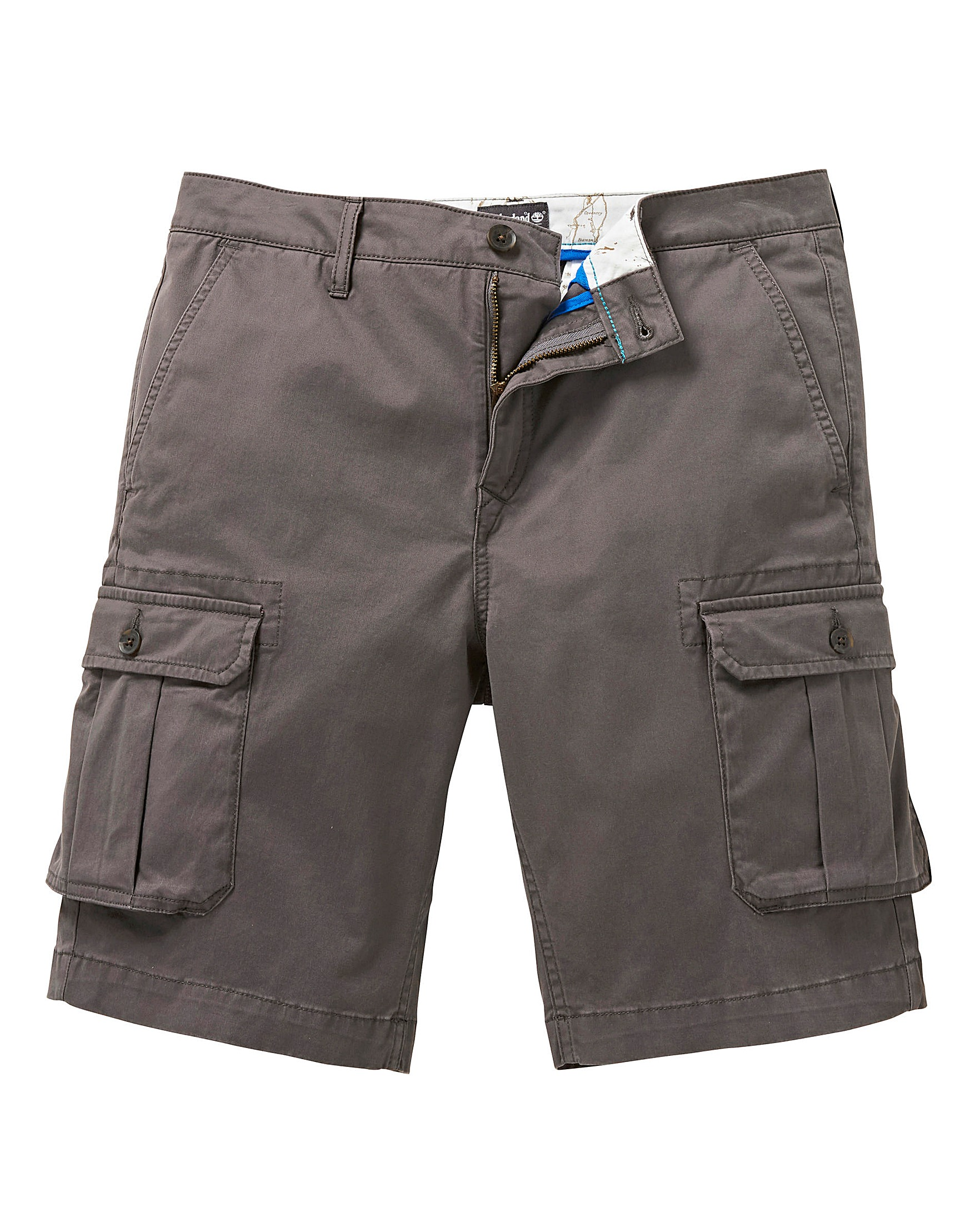 16c759a4ff Timberland Charcoal Webster Lake Stretch Cargo Shorts