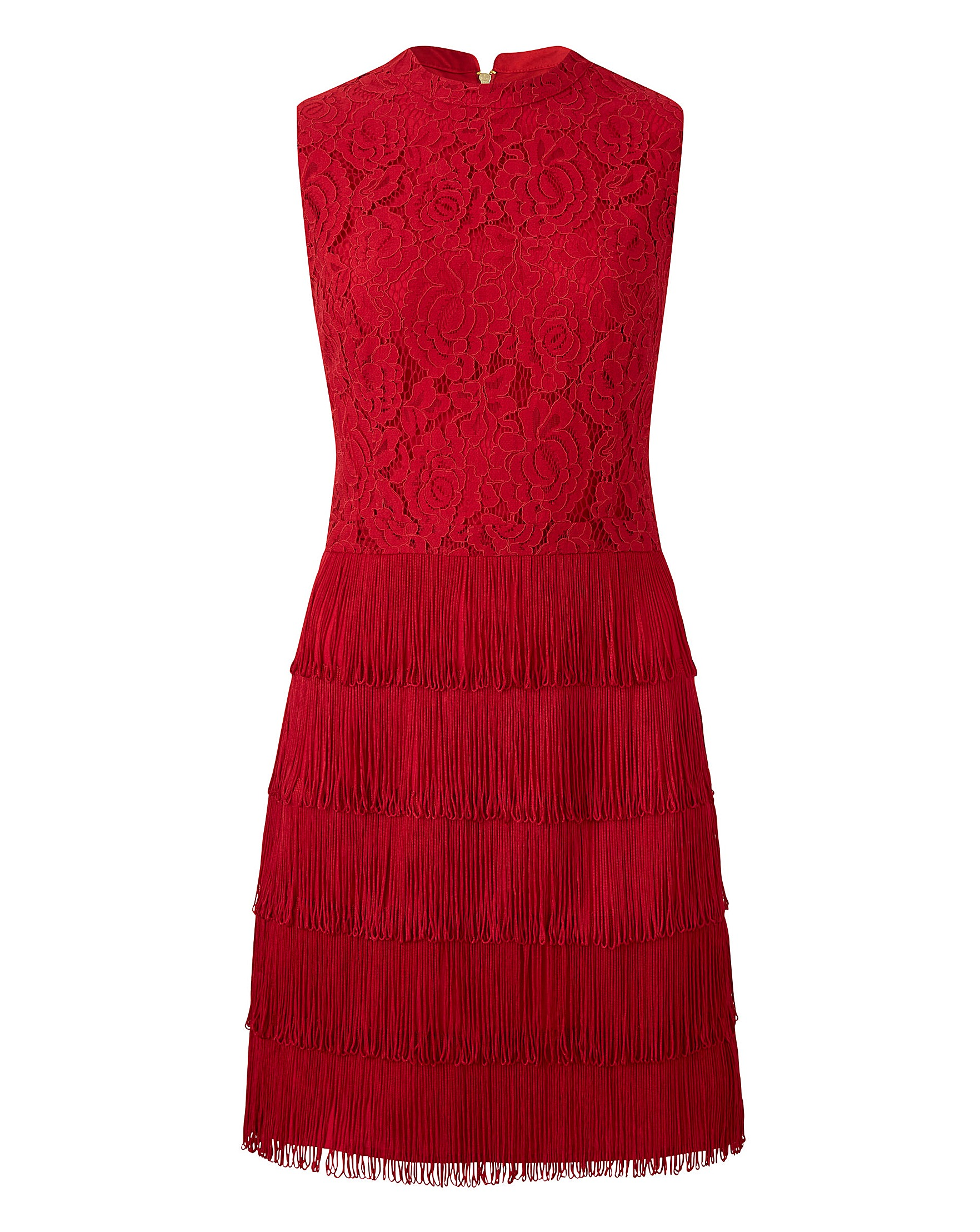 f7a80baba612 Oasis Curve Fringe and Lace Shift Dress | Oxendales