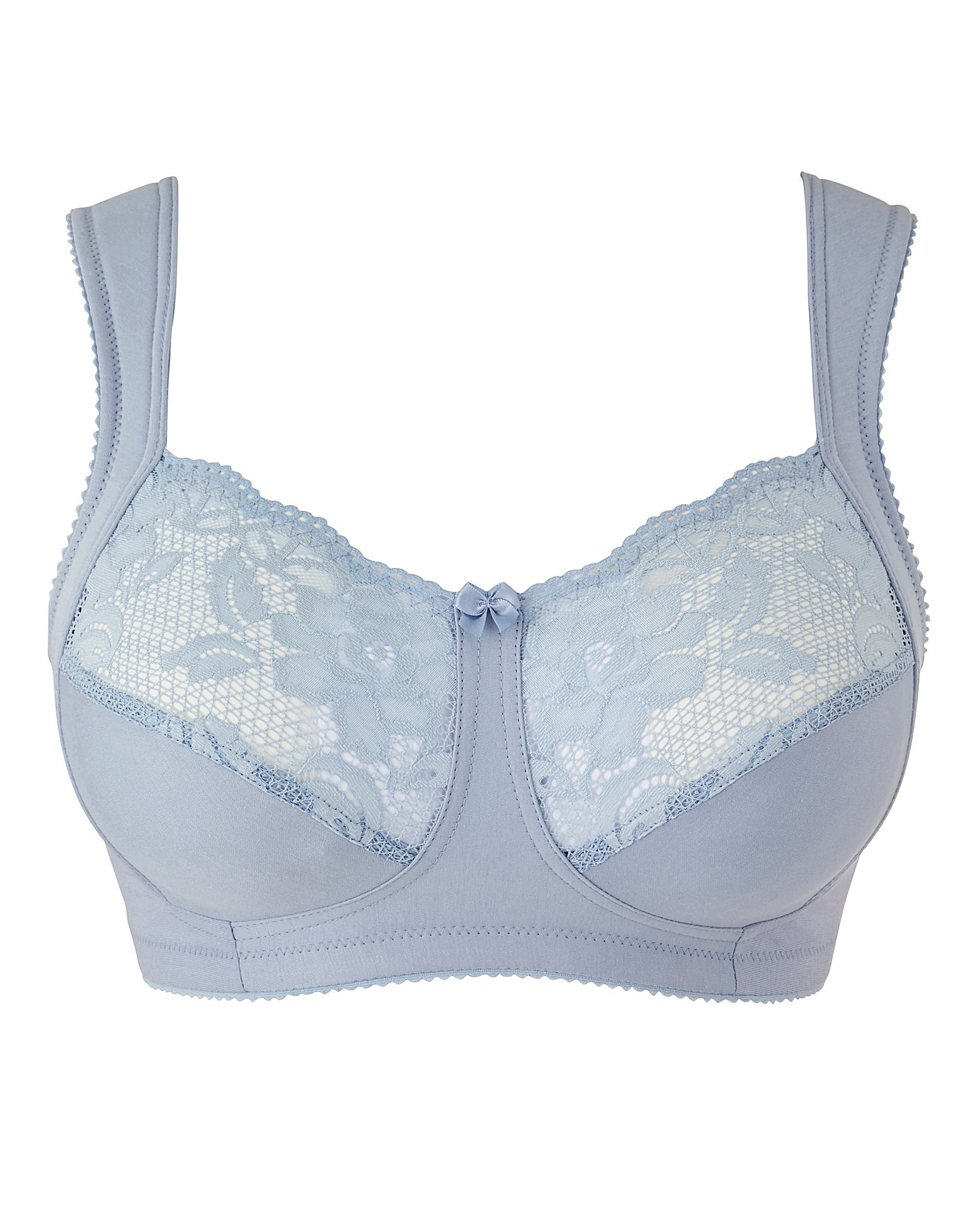 Miss Mary Cotton and Lace Non Wired Bra | House of Bath