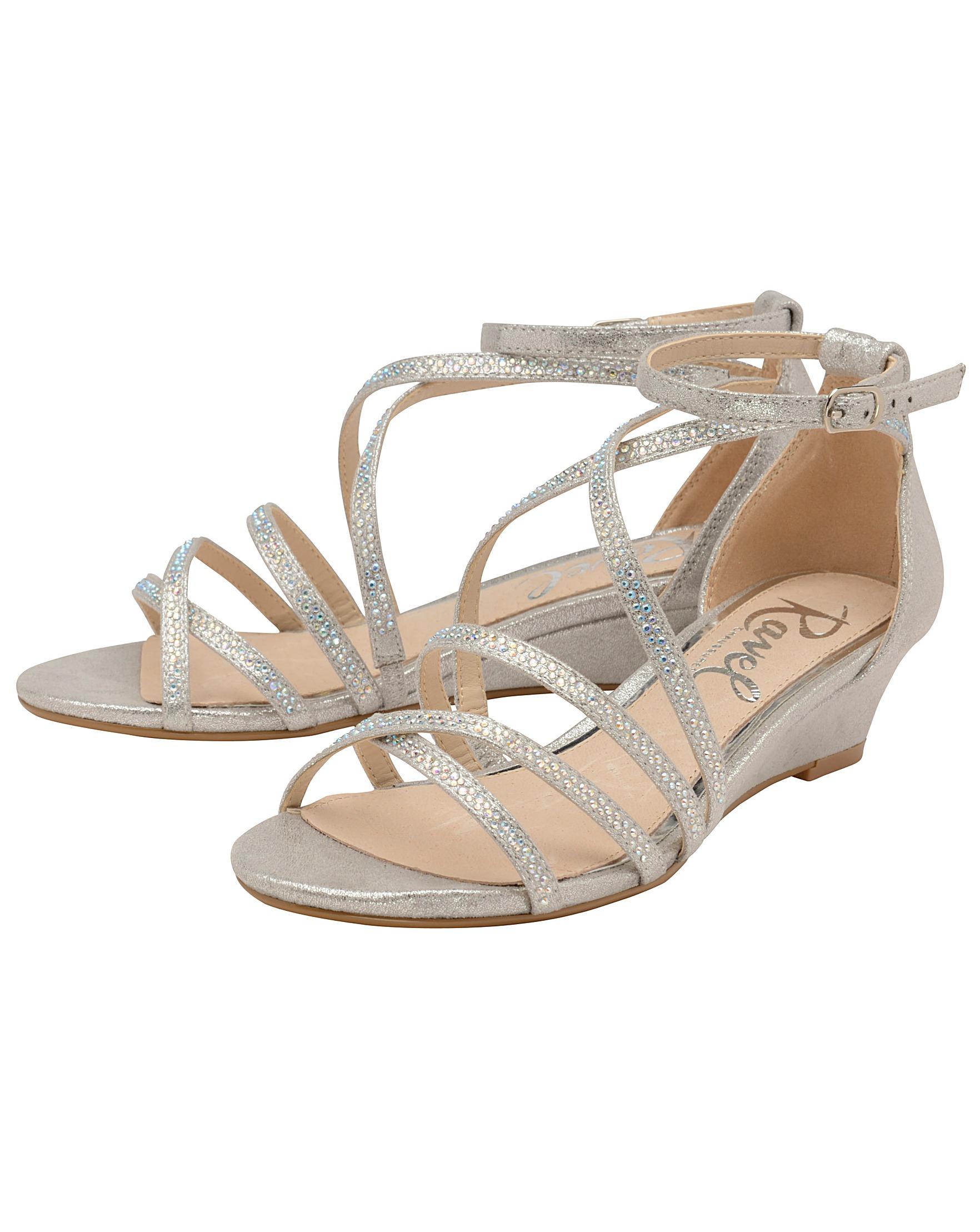 5156da90a9da Ravel Rosa Strappy Wedge Sandals